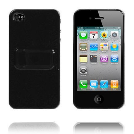 Blomma Kickstand (Svart) iPhone 4 Skal