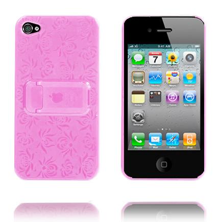 Blomma Kickstand (Ljusrosa) iPhone 4 Skal