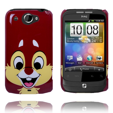 Happy Cartoon (Piff Brun) HTC Wildfire G8 Skal