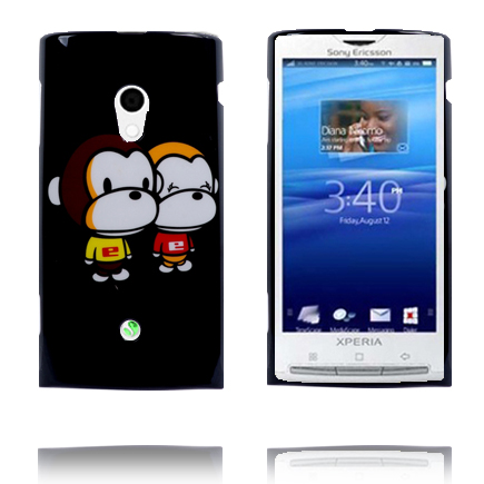 Happy Cartoon (Apor) Sony Ericsson Xperia X10 Skal