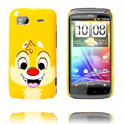 Happy Cartoon (Orange Jordekorre) HTC Sensation Skal