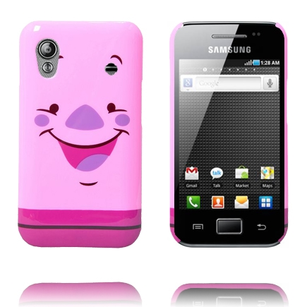 Happy Cartoon (Gris) Samsung Galaxy Ace Skal
