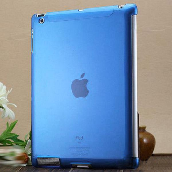 Hårdskal – Transparent (Blå) Skal för iPad 3/iPad 4