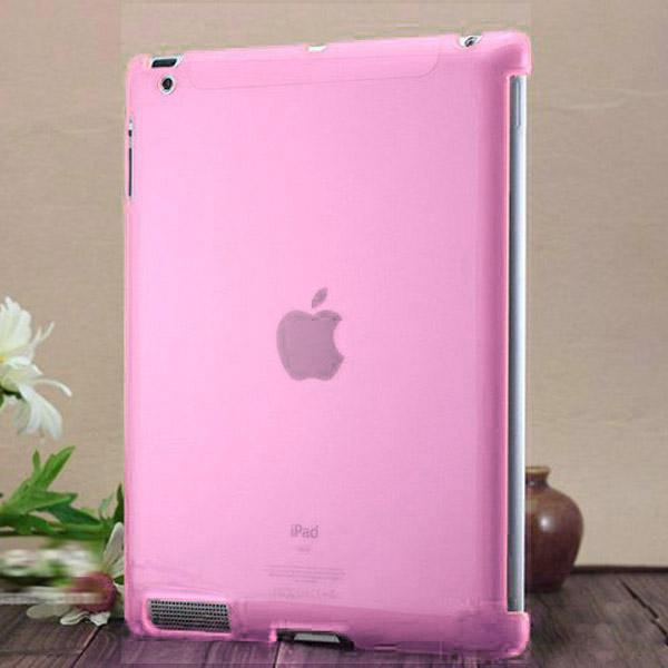 Hårdskal – Transparent (Rosa) Skal för iPad 3/iPad 4