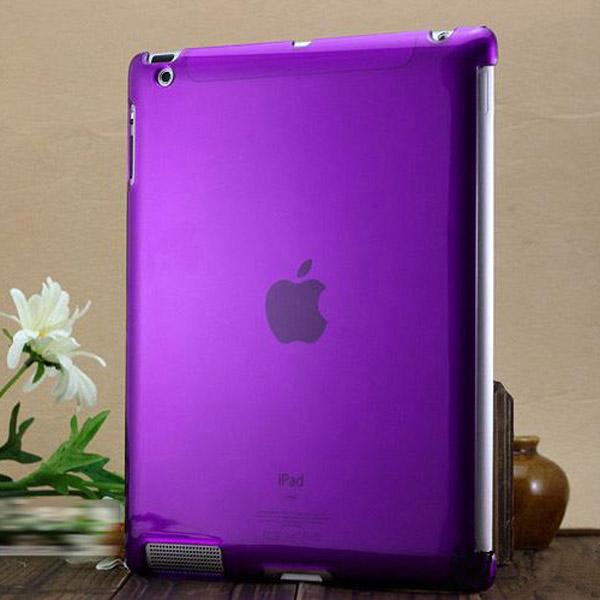 Transparent Hårdskal (Lila) iPad 2 Skal