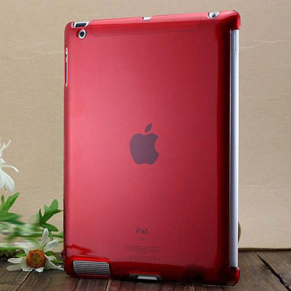 Hårdskal – Transparent (Röd) Skal för iPad 3/iPad 4