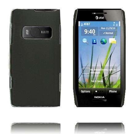 Hårdskal (Svart) Nokia X7 Skal