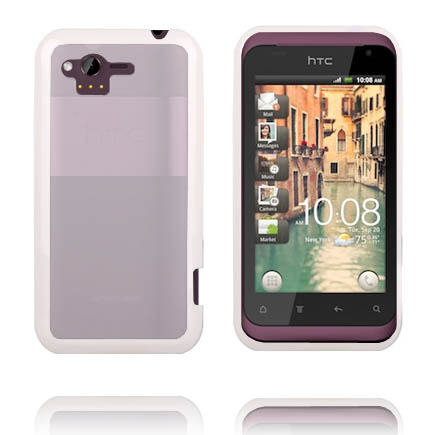Transparent Back (Vit Kant) HTC Rhyme Skal