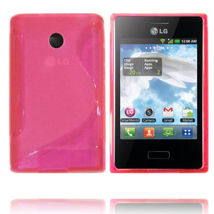 Transparent S-Line (Rosa) LG Optimus L3 Skal