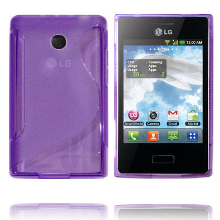 Transparent S-Line (Lila) LG Optimus L3 Skal