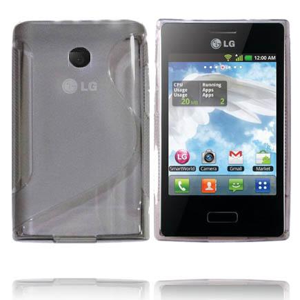 Transparent S-Line (Grå) LG Optimus L3 Skal