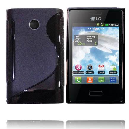 Solid S-Line (Svart) LG Optimus L3 Skal