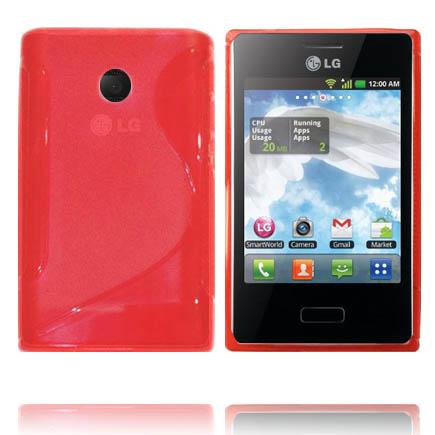 Transparent S-Line (Röd) LG Optimus L3 Skal