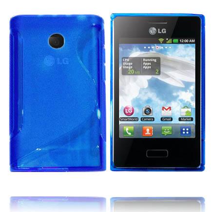 Transparent S-Line (Blå) LG Optimus L3 Skal