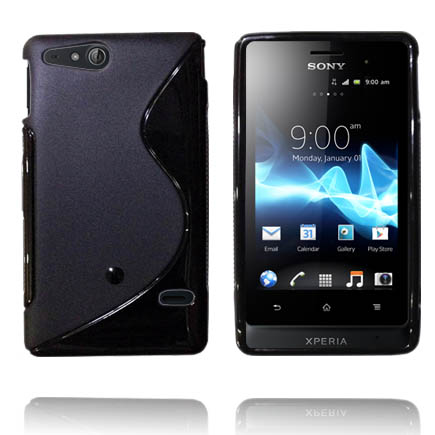 Solid S-Line (Svart) Sony Xperia Go Skal