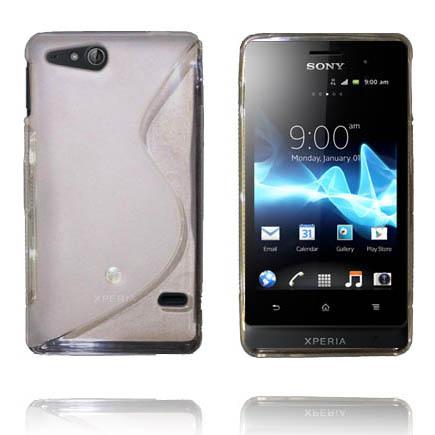 Transparent S-Line (Vit) Sony Xperia Go Skal