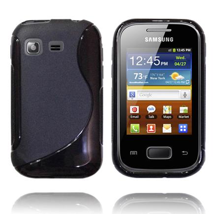 Solid S-Line (Svart) Samsung Galaxy Pocket Silikonskal