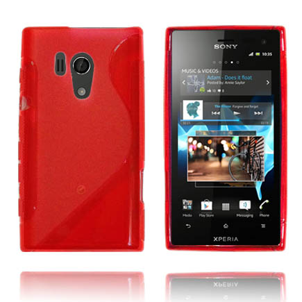 Transparent S-Line (Röd) Sony Xperia Acro S Skal
