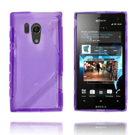 Transparent S-Line (Lila) Sony Xperia Acro S Skal