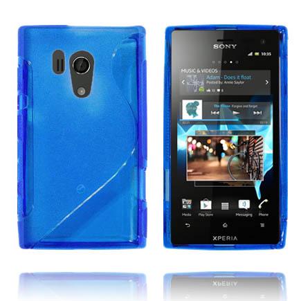 Transparent S-Line (Blå) Sony Xperia Acro S Skal