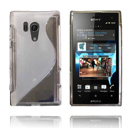 Transparent S-Line (Grå) Sony Xperia Acro S Skal