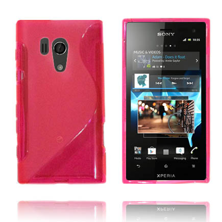 Transparent S-Line (Rosa) Sony Xperia Acro S Skal