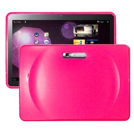 Impact (Knallrosa) Samsung Galaxy Tab 10.1 Silikonskal