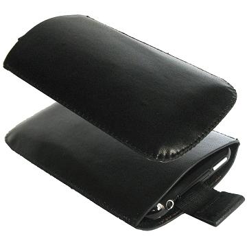 iPhone Läderpåse (Svart)