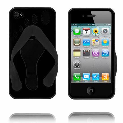 iPhone 4 Slipper (Svart) iPhone 4 & 4S Silikonskal