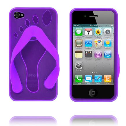 iPhone 4 Slipper (Lila) iPhone 4 & 4S Silikonskal
