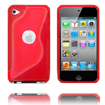 AllColor Logocut S-Line (Röd) iPod Touch 4 Silikonskal