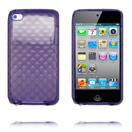 TPU Diamonds (Lila) iPod Touch 4 Skal