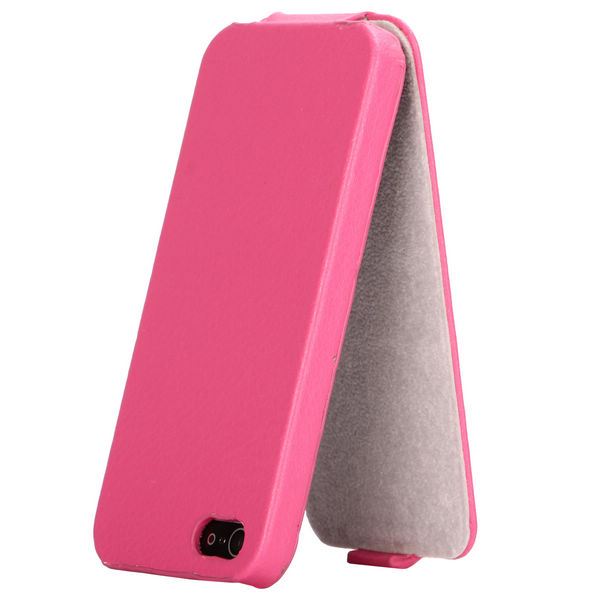 SlimCase iPhone 5 Läderfodral (Rosa)