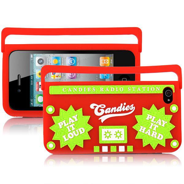 Ghetto Blaster (Röd) iPhone 4/4S Silikonskal