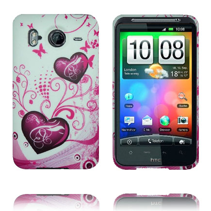 Symphony (Två Lila Hjärtan) HTC Desire HD Skal