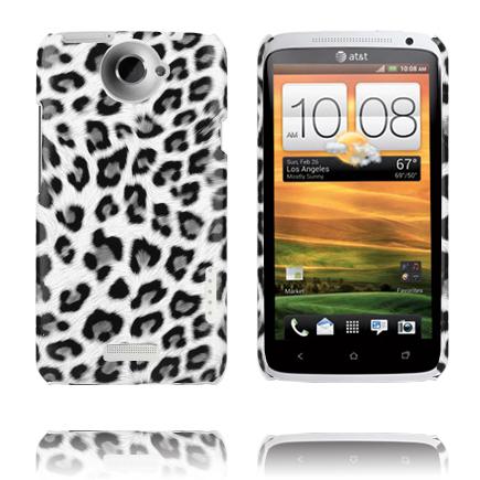 Leopard Fashion (Vit) HTC One X Skal