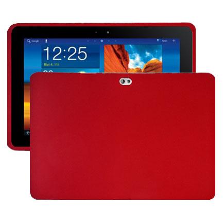 Mjukskal (Röd) Samsung Galaxy Tab 10.1 Skal (P7500)