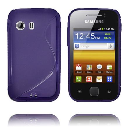 S-Line Transparent (Lila) Samsung Galaxy Y Skal