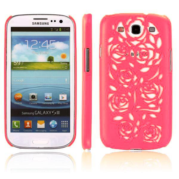 Rose Cut (Rödaktig Rosa) Samsung Galaxy S3 Skal