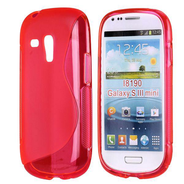 S-Line Transparent (Röd) Samsung Galaxy S3 Mini Skal
