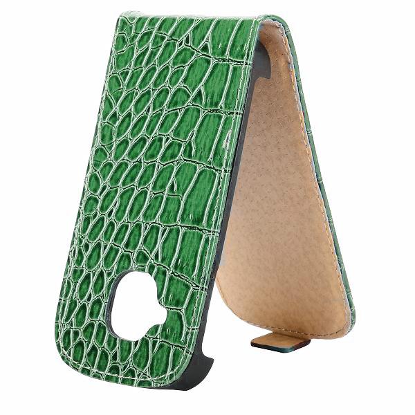 Croco Samsung Galaxy S3 Mini Läderfodral (Grön)