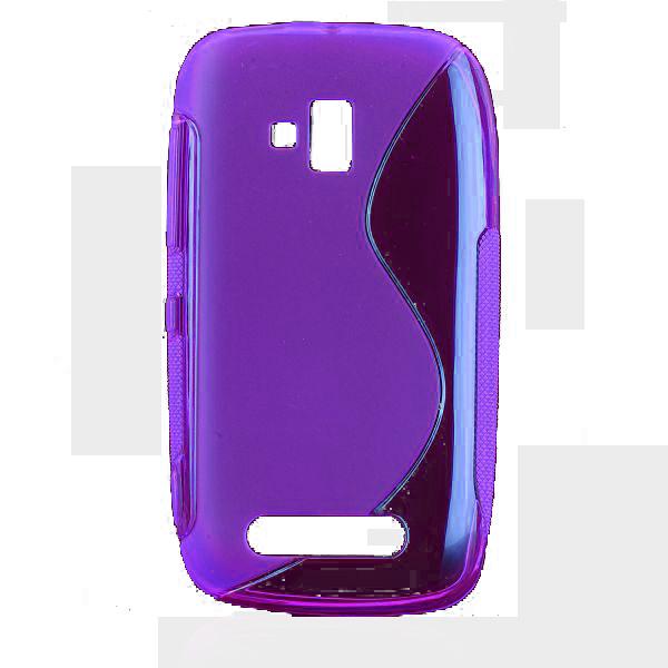 S-Line Transparent (Lila) Nokia Lumia 610 Skal