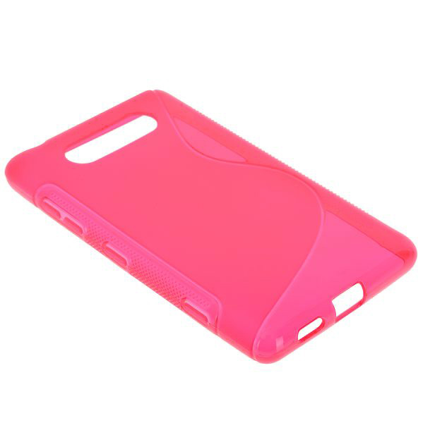 S-Line Transparent (Rosa) Nokia Lumia 820 Skal