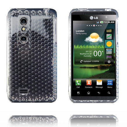 Diamond Mjukskal (Transparent Vit) LG Optimus 3D Skal