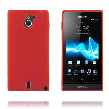 Mjukskal (Röd) Sony Xperia Sola Skal