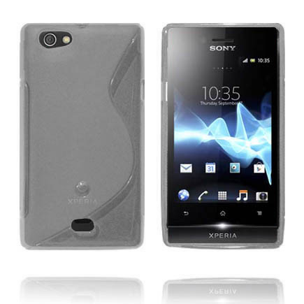Transparent S-Line (Grå) Sony Xperia Miro Skal