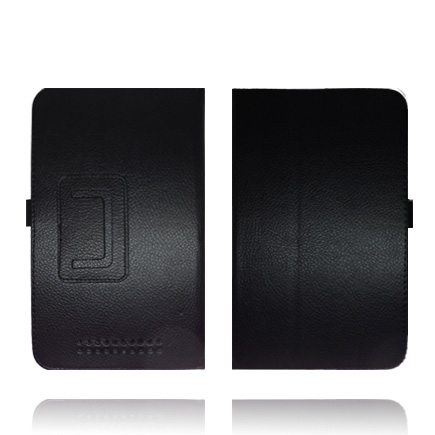 Mjukt Klassiskt ASUS Google Nexus 7 Läderskydd med Stativfunktion (Svart)