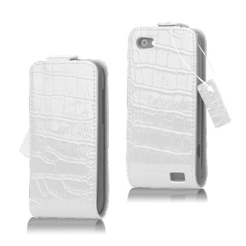 Raptor Läderfodral för HTC One V (Vit)