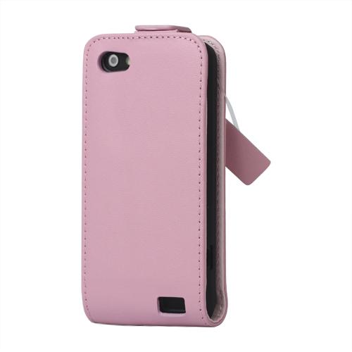 Business HTC One V Läderfodral (Ljusrosa)