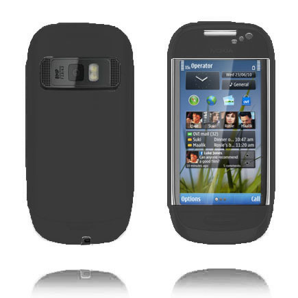 Mjukskal (Svart) Nokia C7 Skal